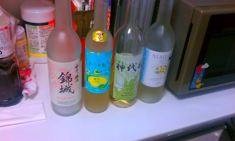 ぶどうの丘のワイン