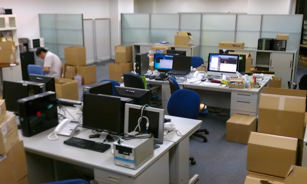 事務所のLAN配線