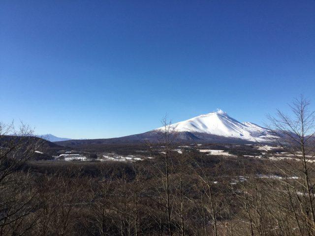 駒髪山からの浅間山