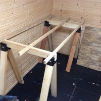 ソーホースブラケットの簡易作業台