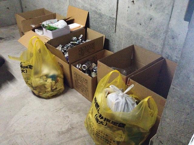 ゴミ捨ての頻度と量
