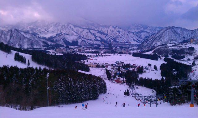 湯沢でスキー