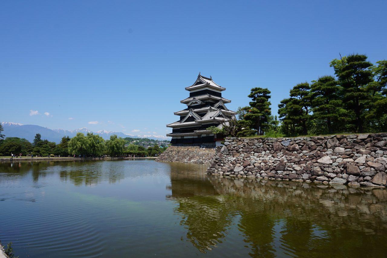 松本城と松本市美術館