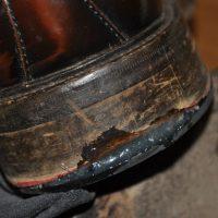 革靴のかかと修理