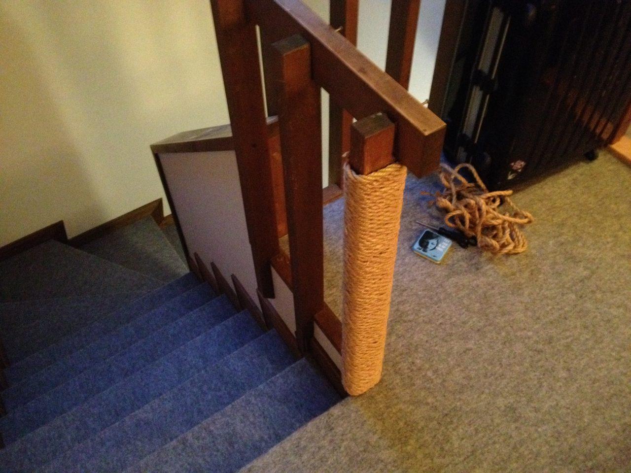 階段の柵をつめとぎ化