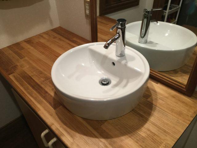 洗面台と洗面ボウルの交換