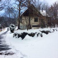 最初の積雪