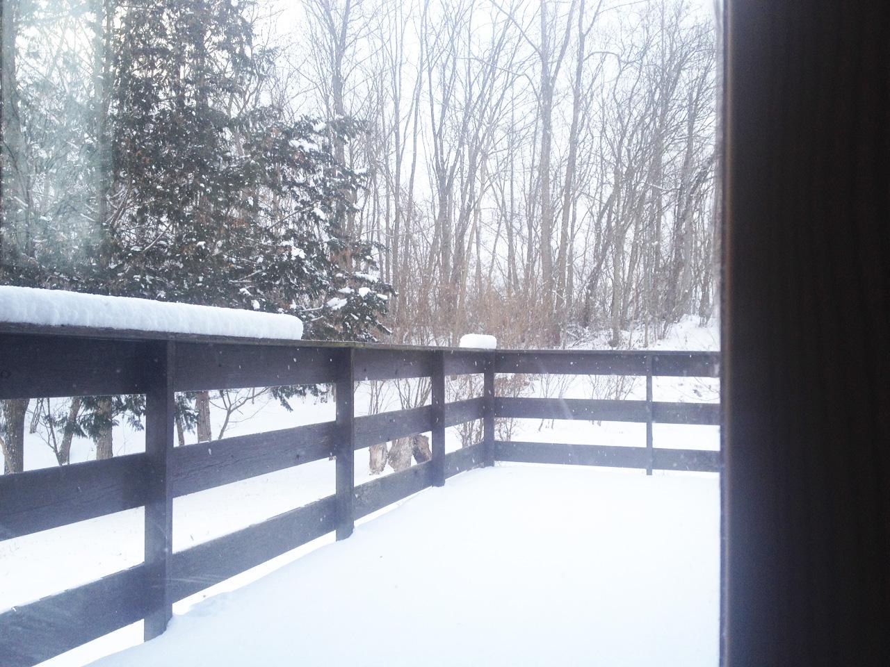 片栗粉のような雪