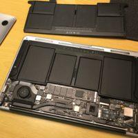 MacBook Air(11-inch, Mid 2012)のバッテリー交換
