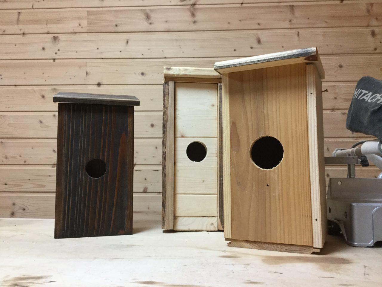 端材で作った巣箱