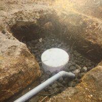浄化槽の浸透桝の交換