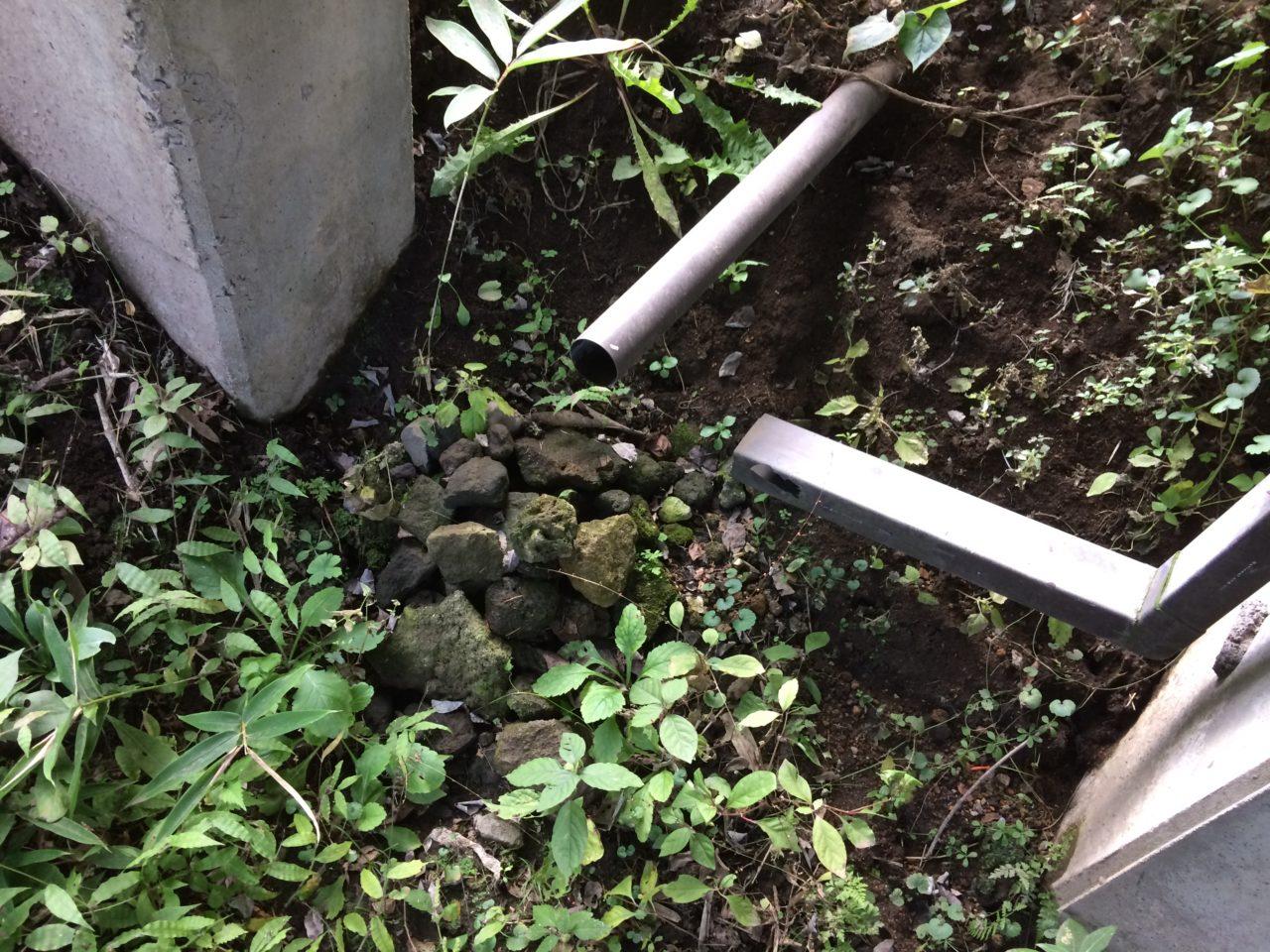 雨水の排水管を延長