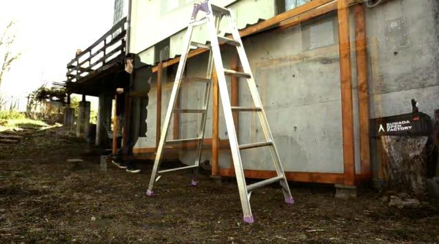 薪棚の塗装と屋根材の取り付けムービー