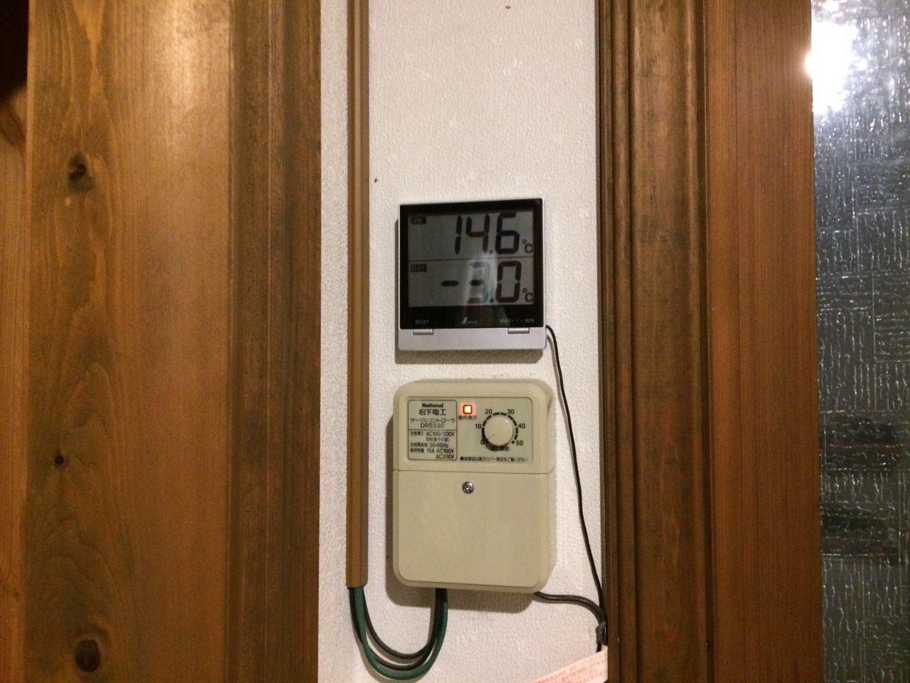 シンワのデジタル温度計