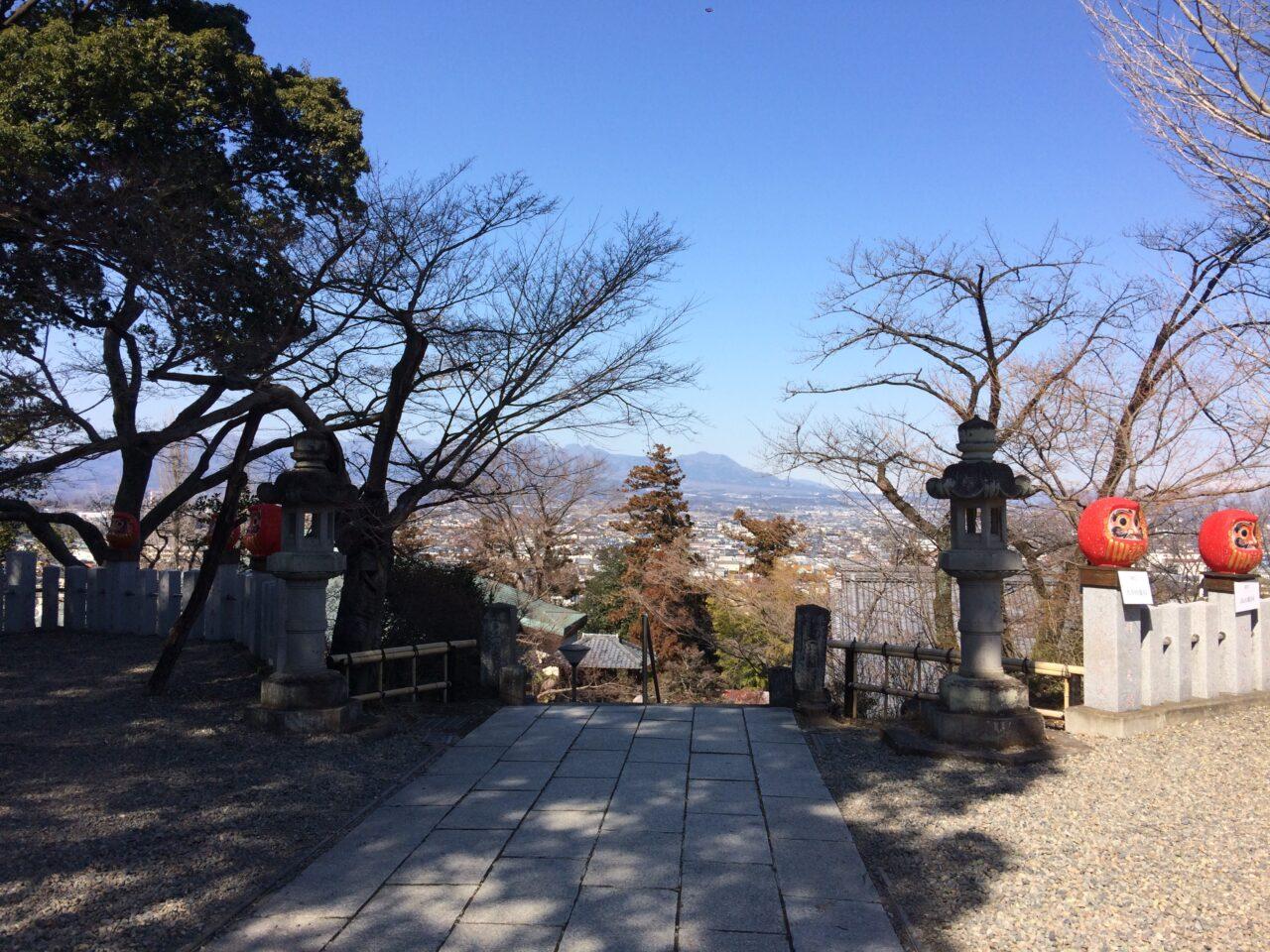 パークレーン高崎と少林山達磨寺