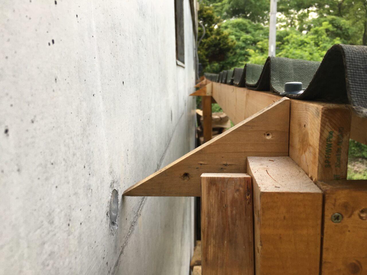薪棚の湿気対策