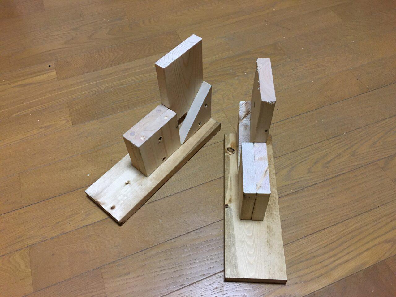 端材で作った小物棚