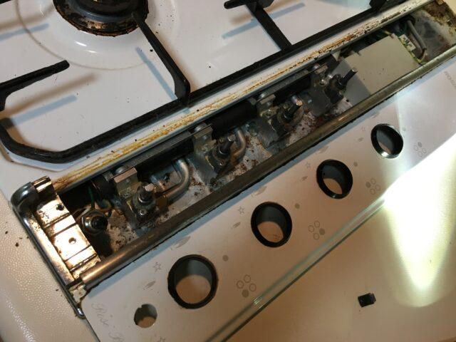 ガスコンロ清掃と漏電ブレーカ
