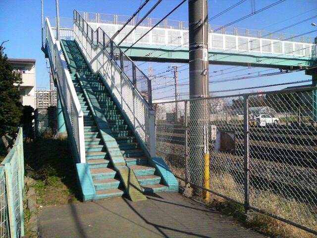 南柏駅近くの歩道橋